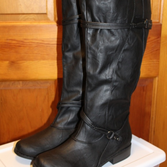 cheap hoard as a rare commodity shop for authentic Women's Extra Wide Calf Knee High Riding Boots NWT